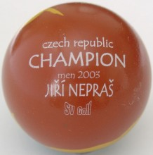 Czech Champion men 2003 Jiří Nepraš